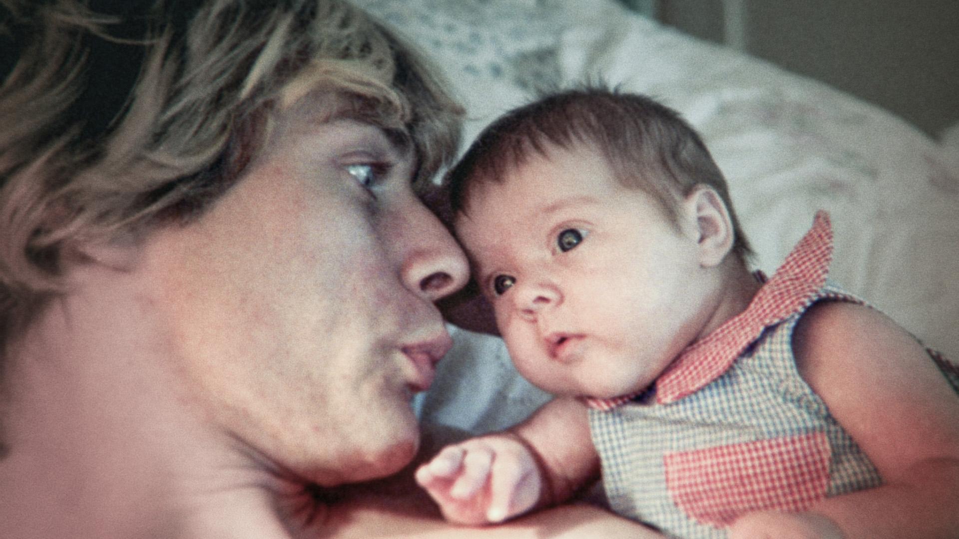 Cobain with Frances Bean.
