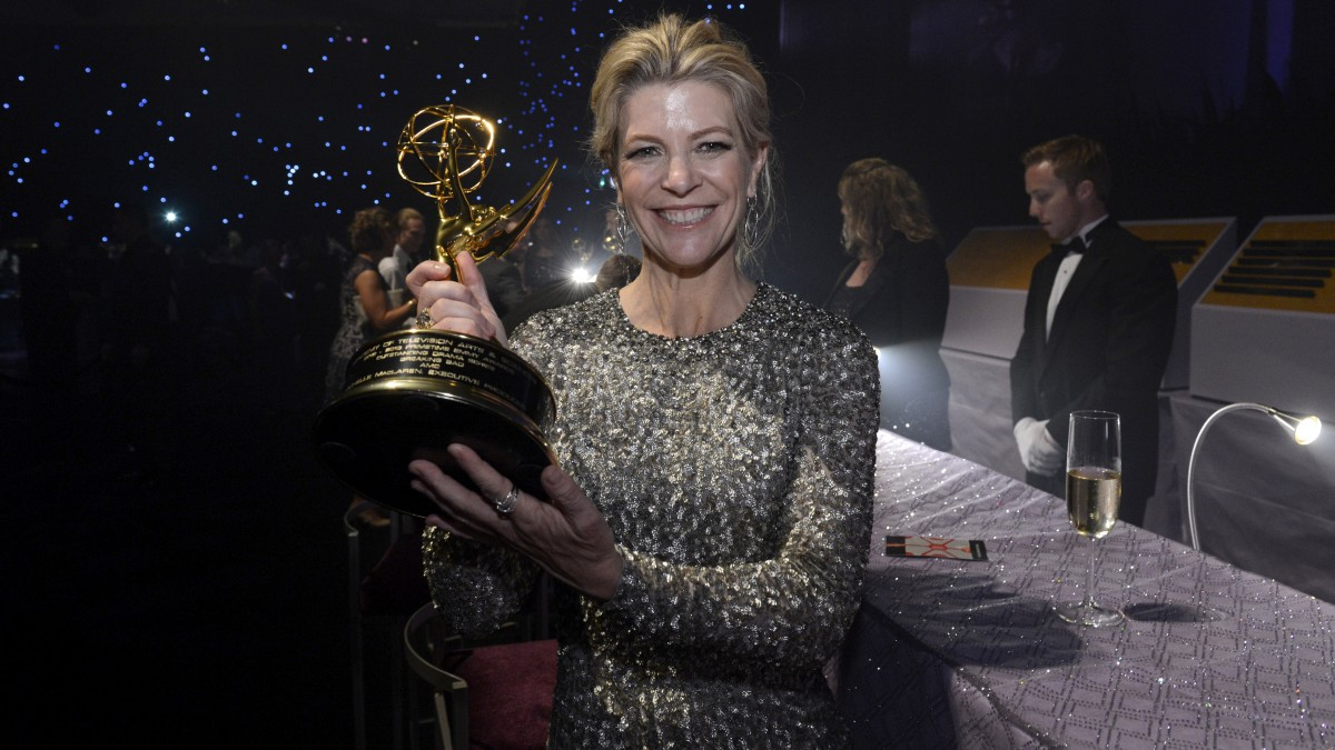 Michelle MacLaren with her 2013 Emmy for 'Breaking Bad.'