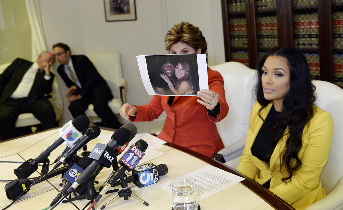 Gloria Allred Holds Press Conference Regarding Floyd Mayweather Jr's Ex-Fiancee's Lawsuit
