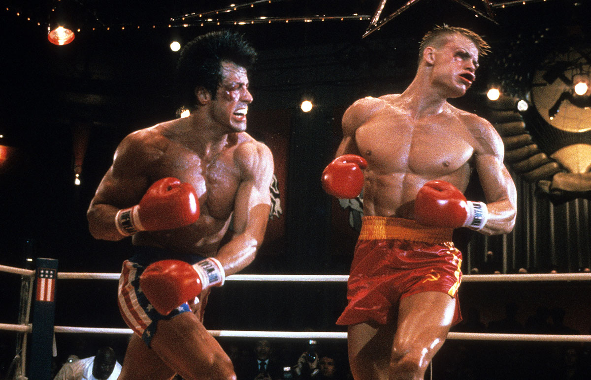 Sylvester Stallone And Dolph Lundgren In 'Rocky IV'
