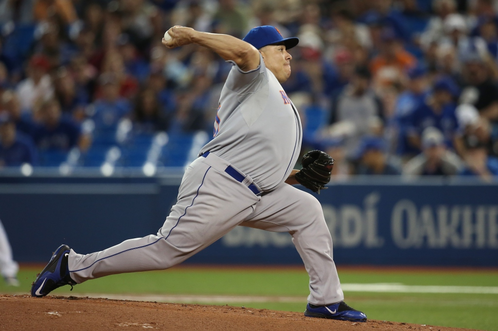 Mets pitcher Bartolo Colon is tied for the third-most wins in MLB but has a negative WAR.