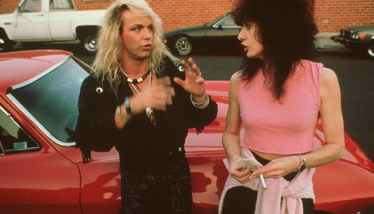 Spheeris with Poison's Bret Michaels on the set of 'Part II.'