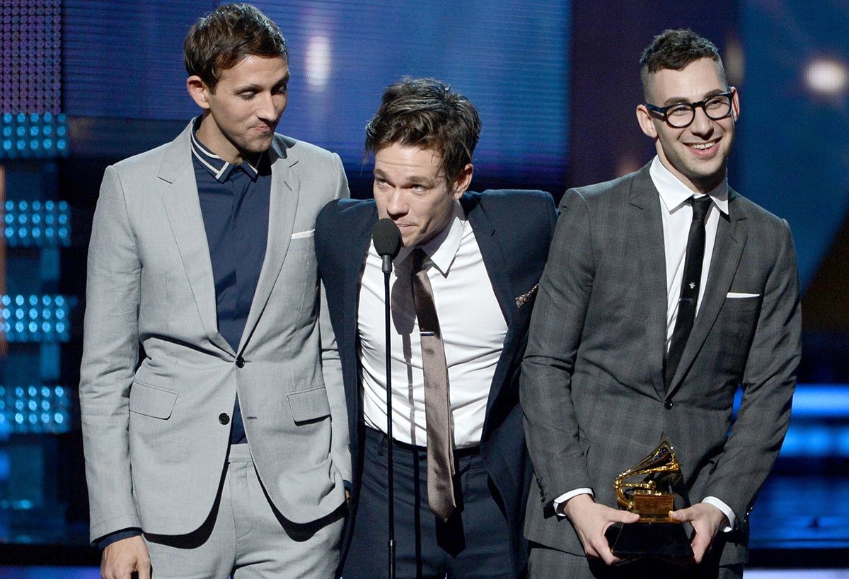 Dost, Ruess, and Antonoff at the Grammys in 2013.