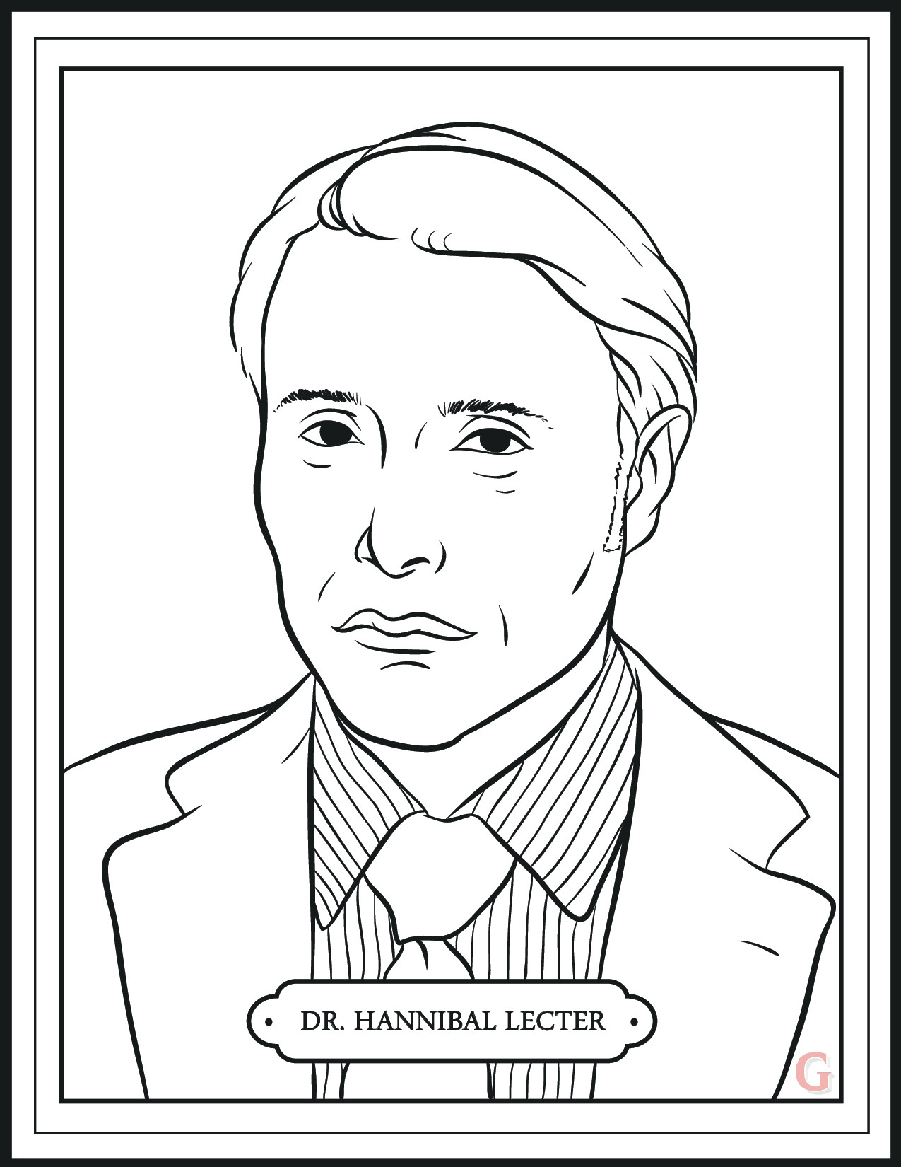 Hannibal' Returns Tonight. Enjoy This Mini Coloring Book ...