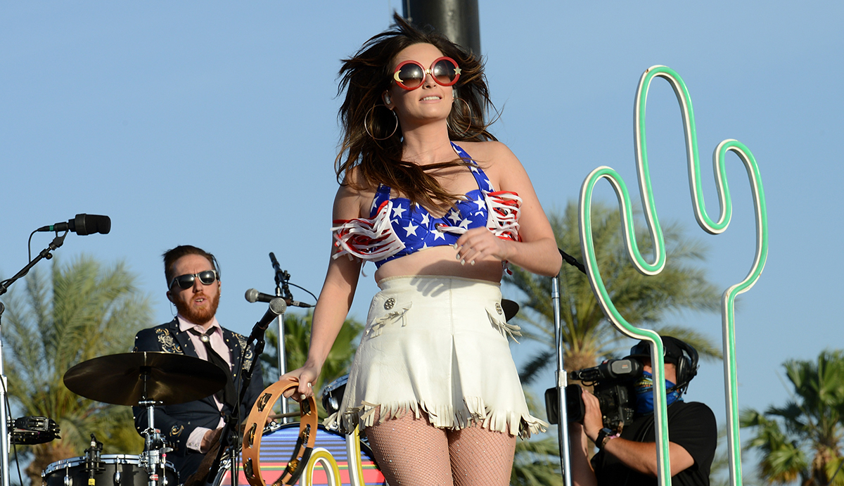 Kacey Musgraves performs at 2015 Stagecoach, California's Country Music Festival in April.