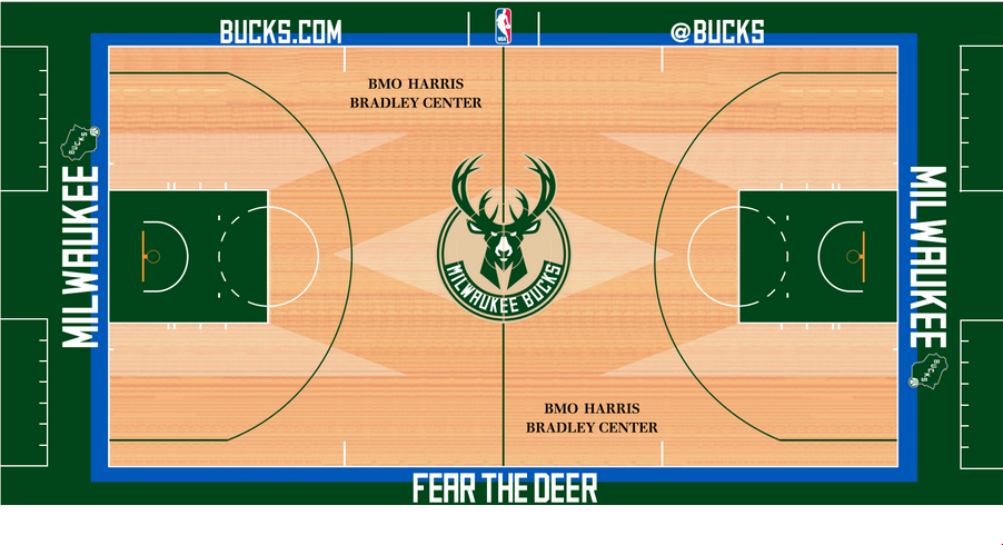 Fear the Deer  The Bucks Unveil Their New Court Design 82bdfb3b5