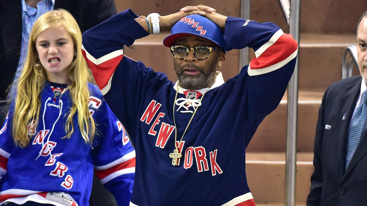 Celebrities Attend The Tampa Bay Lightning Vs New York Rangers Playoff Game - May 29, 2015