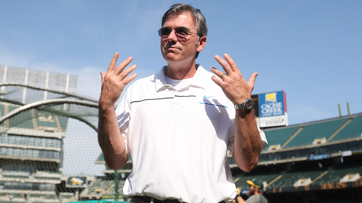 Billy Beane and the A's have become the poster team for Moneyball, but little-known AVM helped fuel those breakthroughs. (Michael Zagaris/Getty Images)