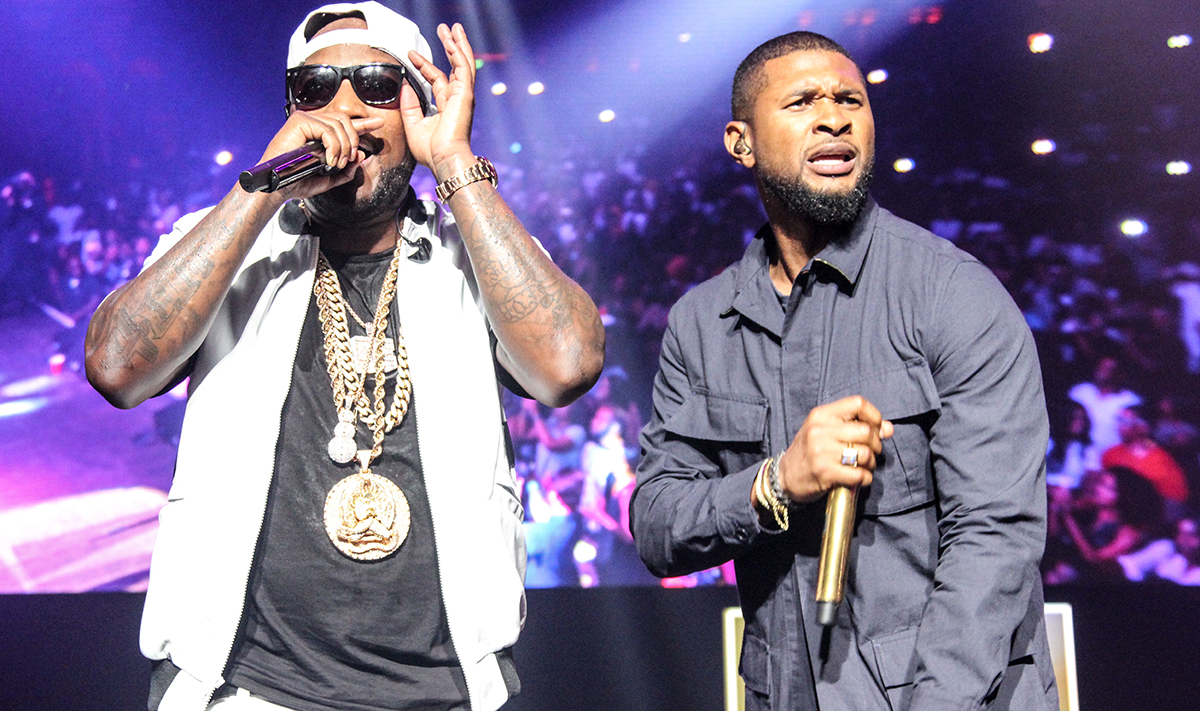 Jeezy and Usher at the 'TM 101' 10-year Anniversary Concert.