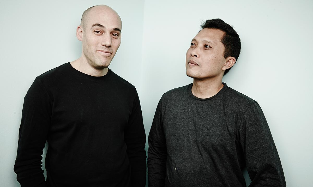 Oppenheimer and Adi Rukun at the 2014 Toronto International Film Festival.