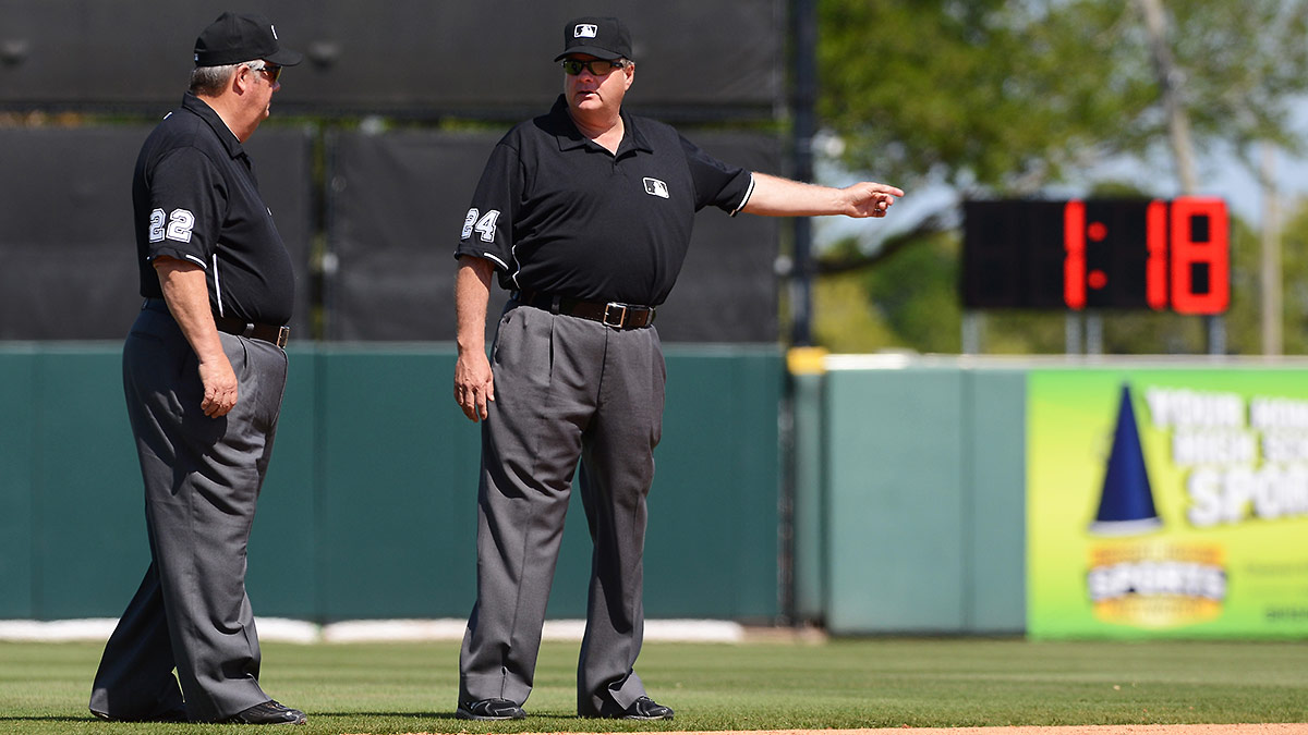 MLB teams started getting used to the between-innings clock during spring training. (Mark Cunningham/Getty Images)