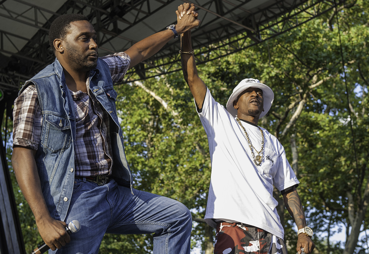 Big Daddy Kane and Rakim perform at the '40th Anniversary of Hip-Hop Culture' concert in 2013.