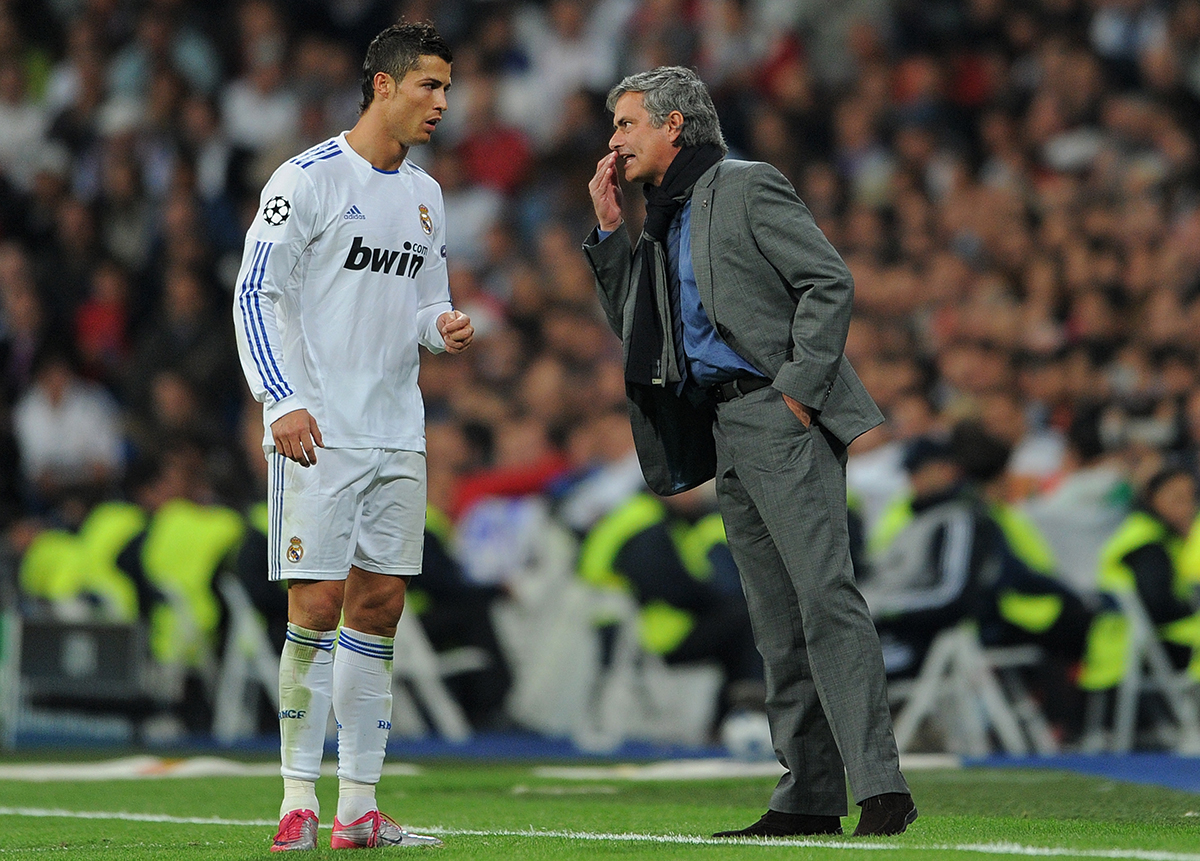 Mourinho and Ronaldo in 2010.