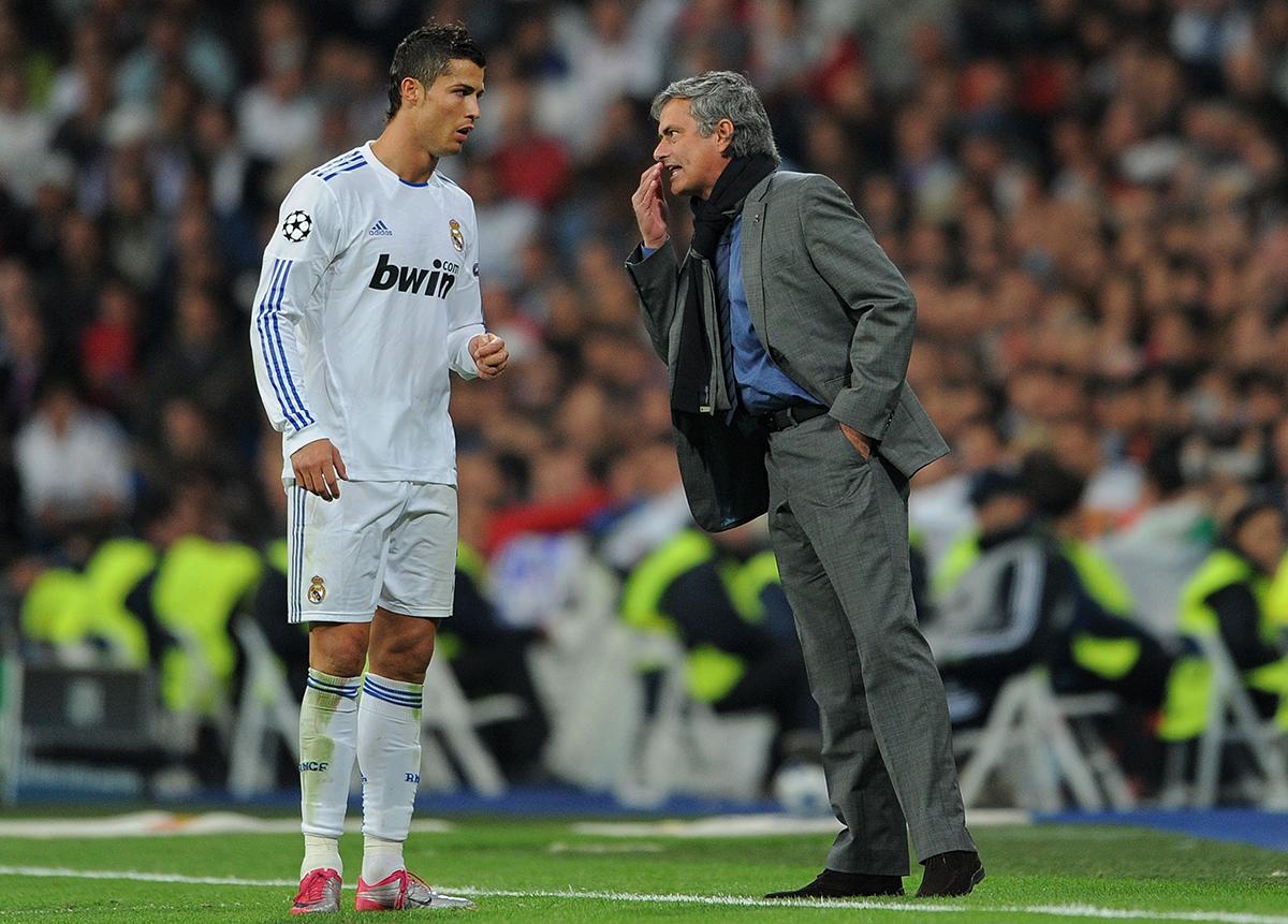 Mourinho and Ronaldo in 2010.