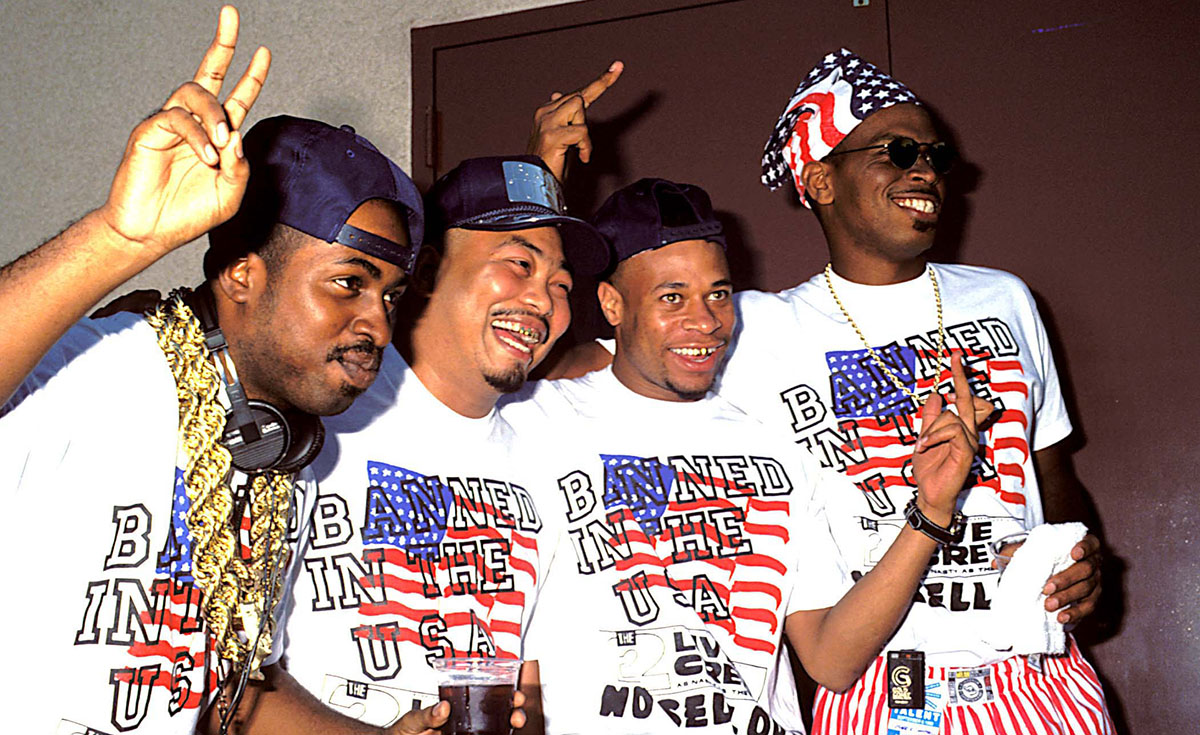 Luther Campbell and 2 Live Crew at the 1990 MTV Video Music Awards.