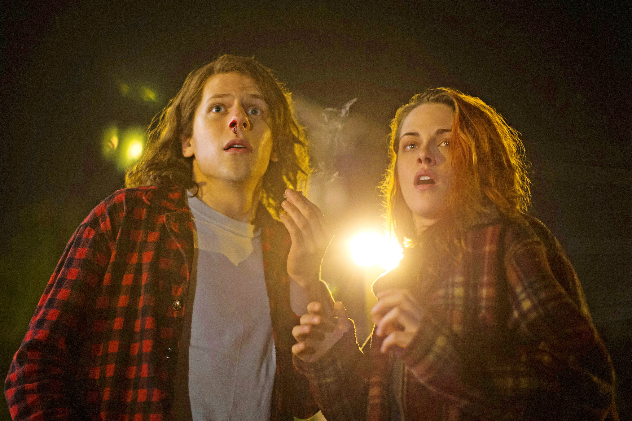 Jesse Eisenberg and Kristen Stewart in 'American Ultra.'