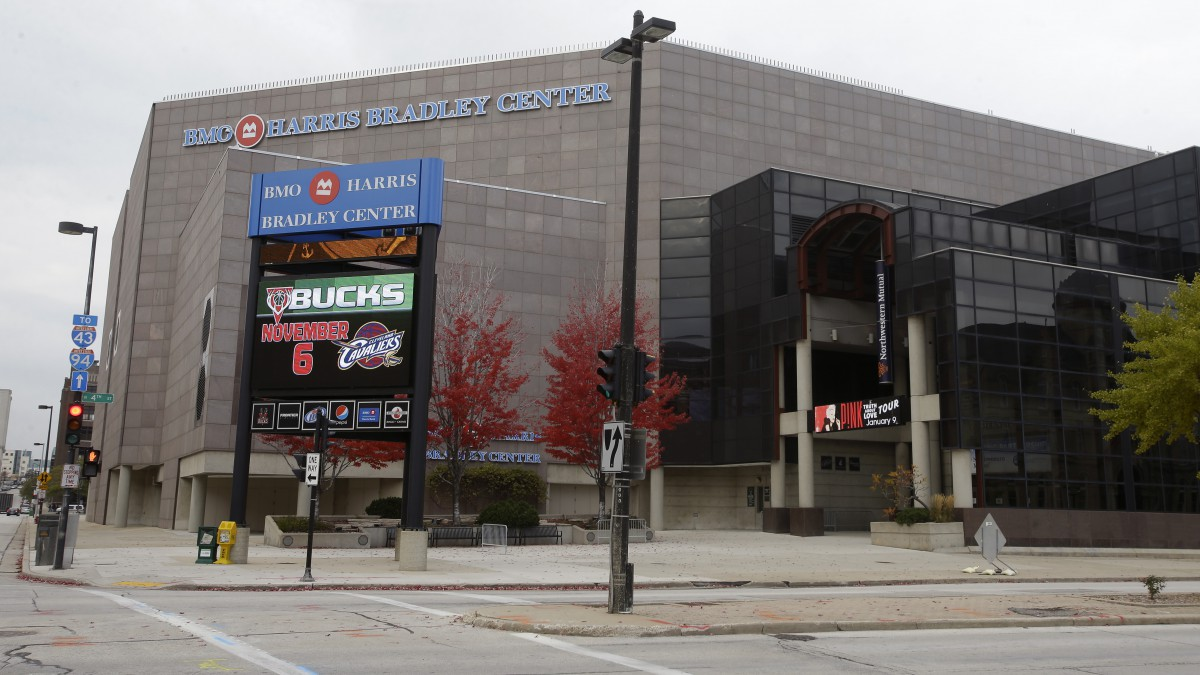 Exterior View of the Bradley Center, current home to the Milwaukee Bucks