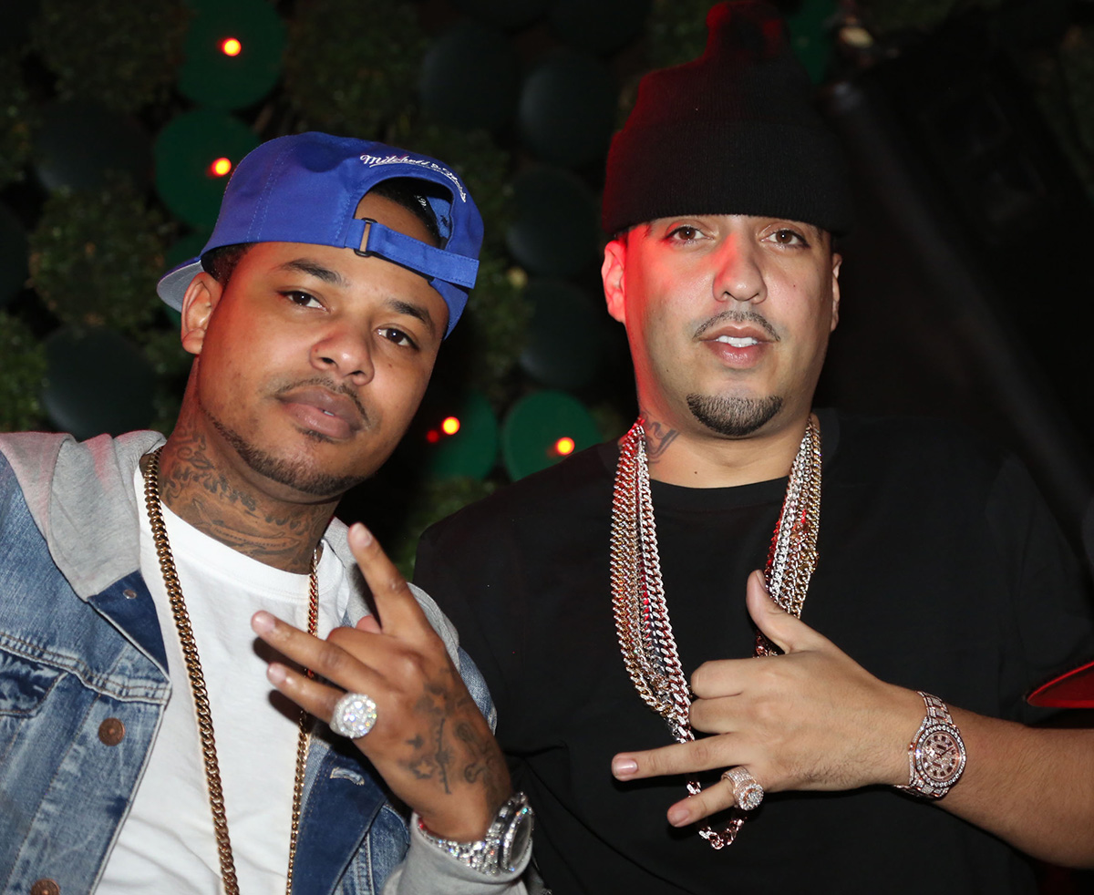 Chinx and French Montana in 2013 in New York City.