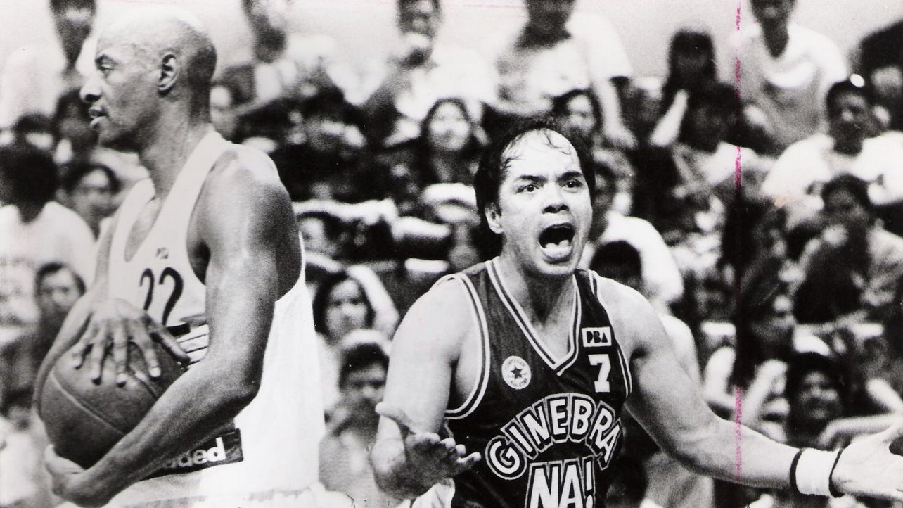 Bobby Parks, left, playing for Shell in the mid-'90s, with Robert Jaworski, one of the most famous players in PBA history.