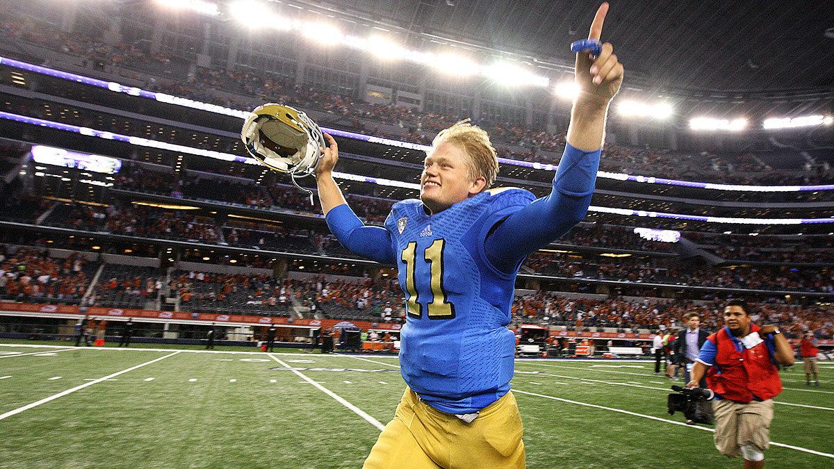 Jerry Neuheisel earned some meaningful snaps in 2014 and has the pedigree, but can't match Rosen's raw skills. (Wally Skalij/Los Angeles Times via Getty Images)
