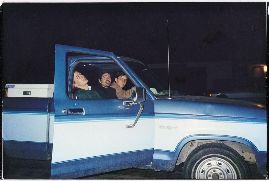 Pavement's Malkmus, Gary Young, and Kannberg in 1991.