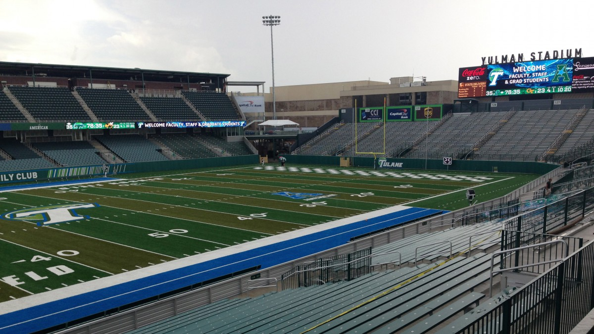 Yulman Stadium in New Orleans, La. The stadium will bring back NCAA college football to Tulane's campus for the first time since 1974 on Saturday with a game against Georgia Tech.