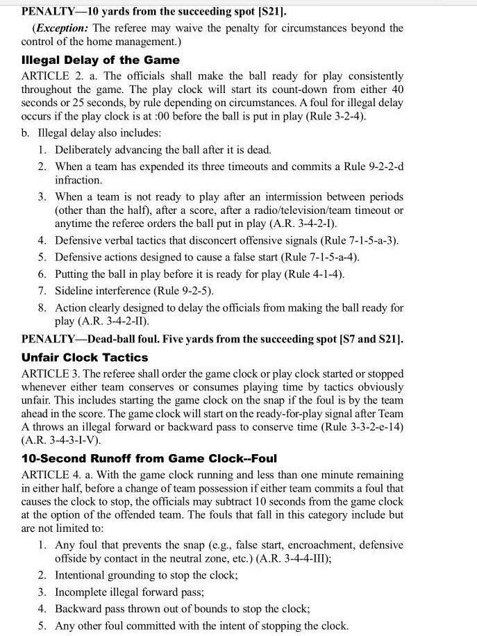 15.9.27-Delay of Game Rules