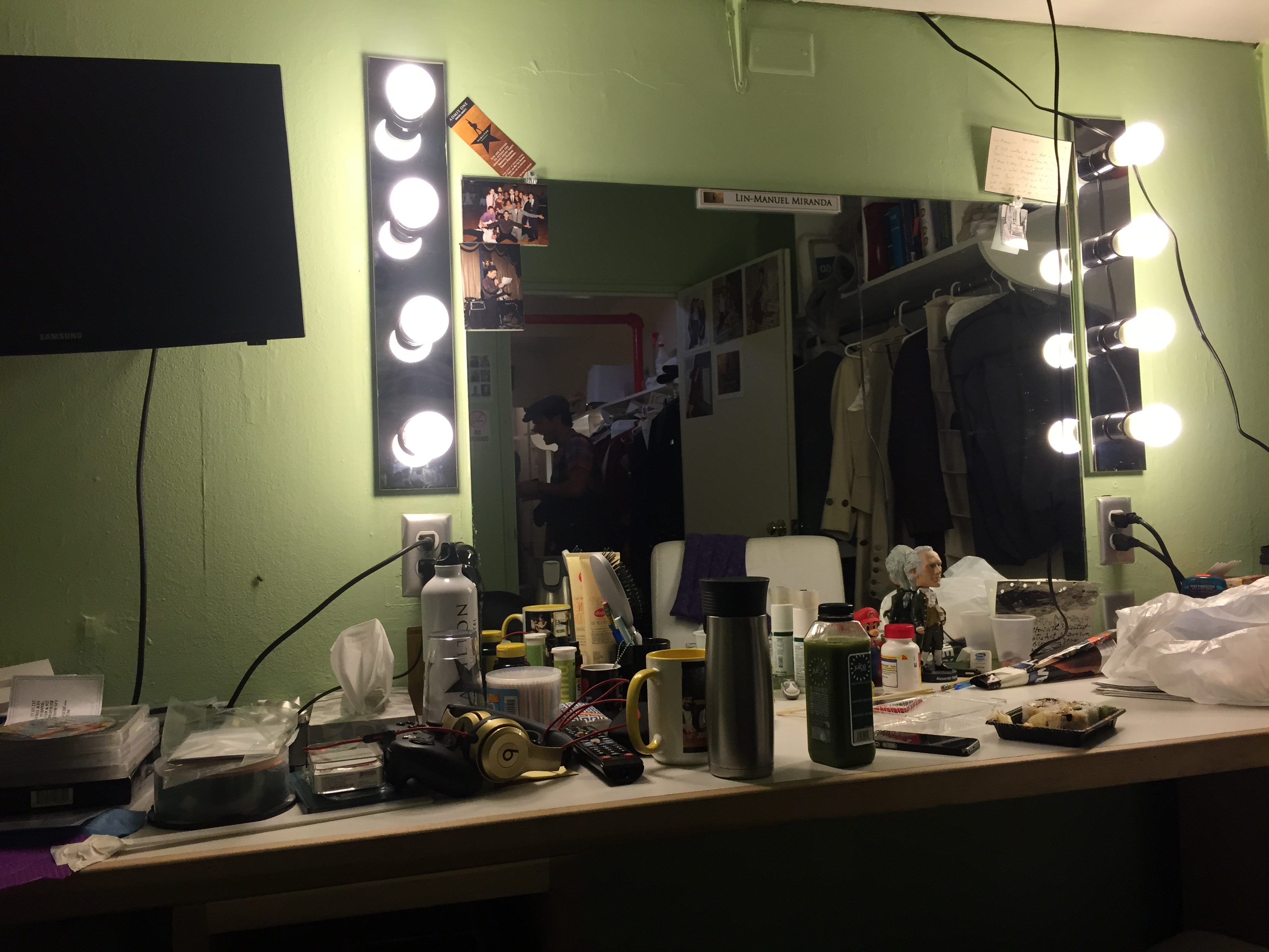 Backstage at the Richard Rogers Theater.