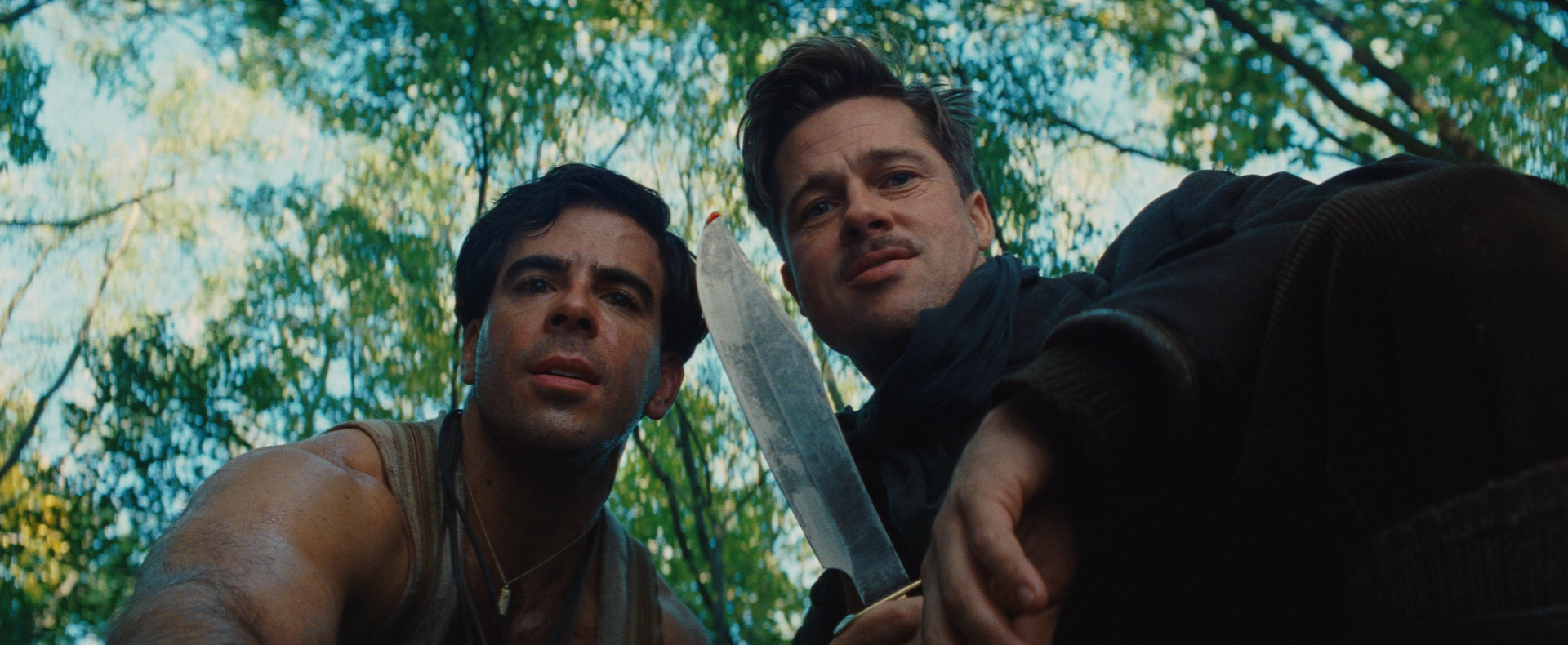 Roth and Brad Pitt in 'Inglourious Basterds.'
