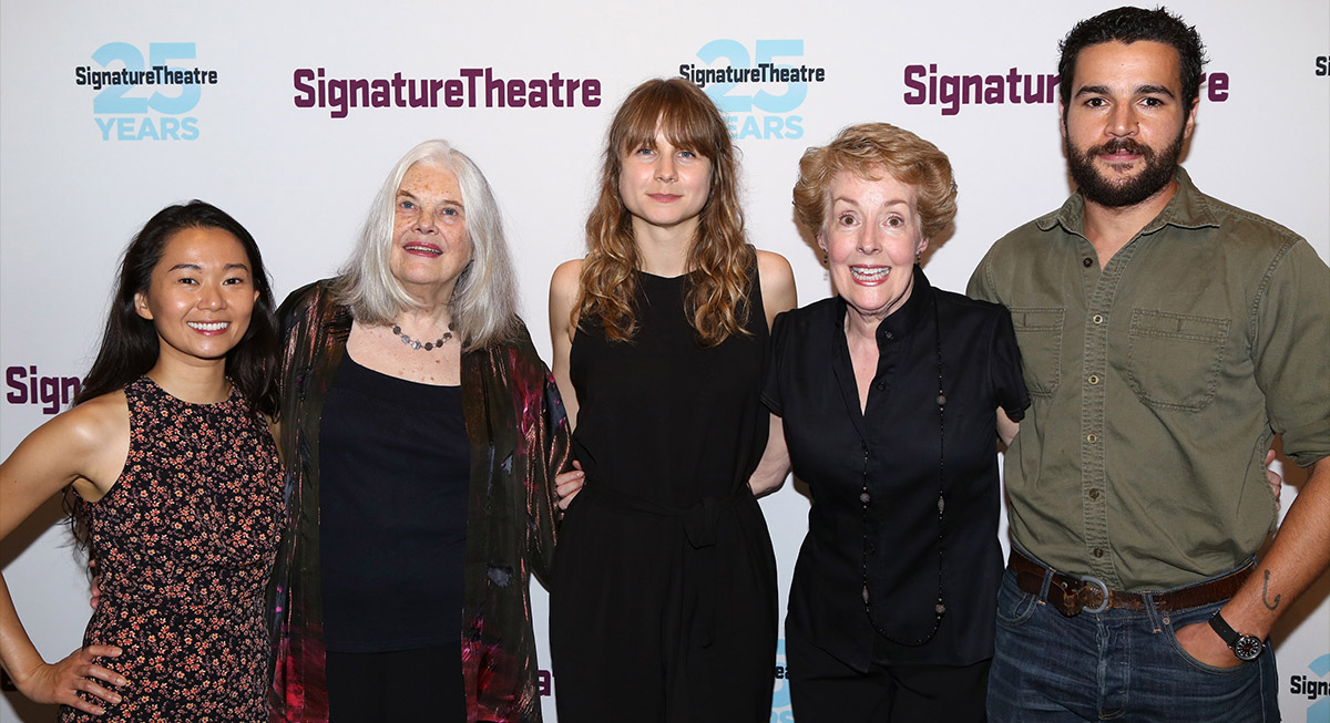 The cast of 'John': Hong Chau, Lois Smith, Baker, Georgia Engel and Christopher Abbott.