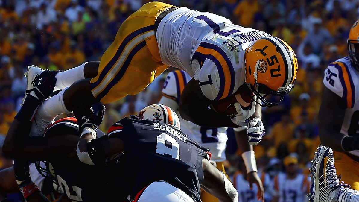 Running back Leonard Fournette spearheads LSU's potent but conservative offensive attack.