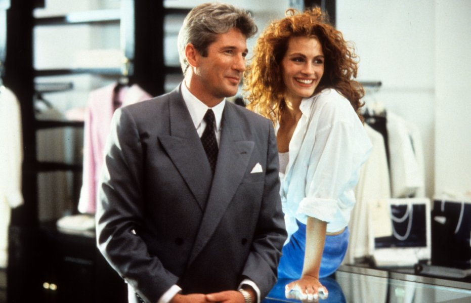 Gere and Julia Roberts in — duh — 'Pretty Woman'.