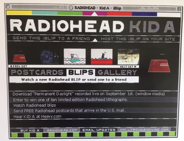 The 'Kid A' Blip interface.