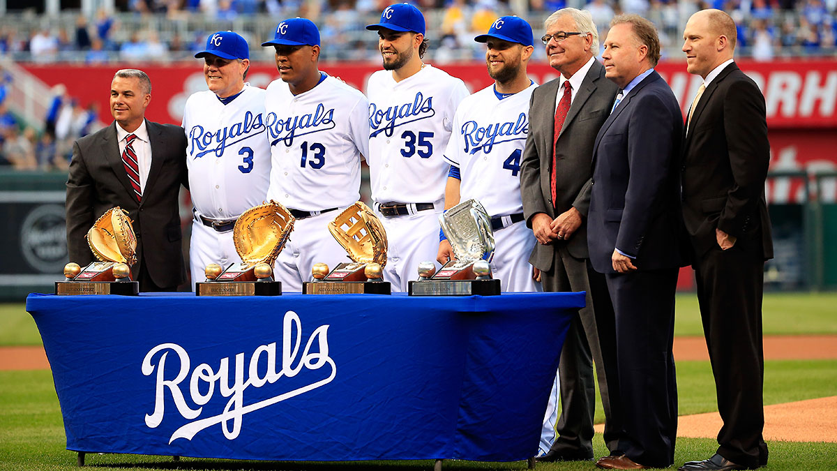 Gold Glove winners Salvador Perez, Eric Hosmer, and Alex Gordon have contributed to the Royals' superb defense.