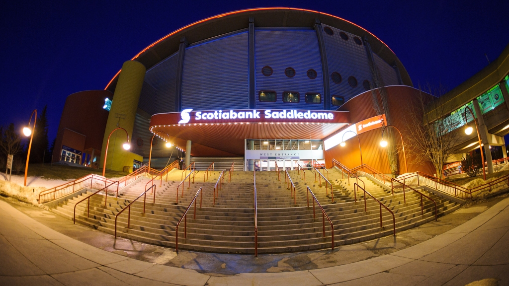 The exterior of Scotiabank Saddledome