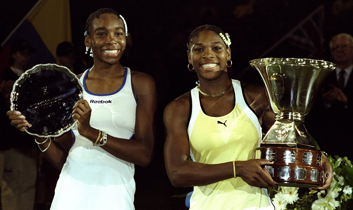 Venus and Serena at a tournament in Germany in 1999.