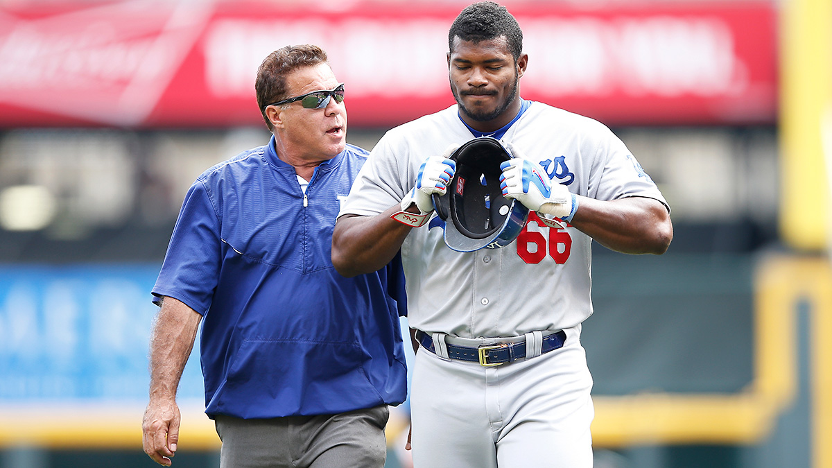 yasiel-puig-injury-dodgers-tri
