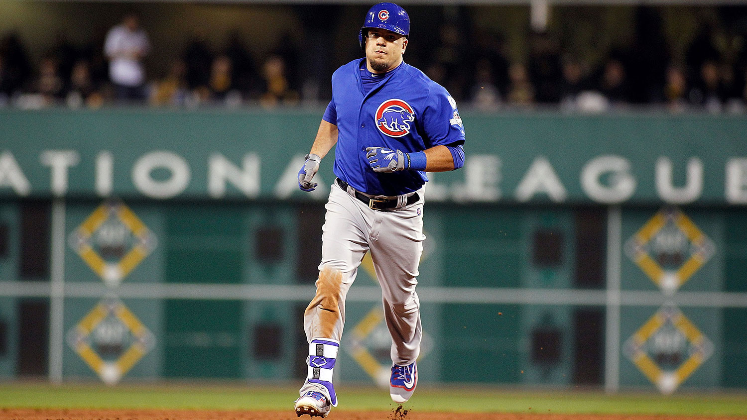 This is Kyle Schwarber. Baseballs are scared of him.