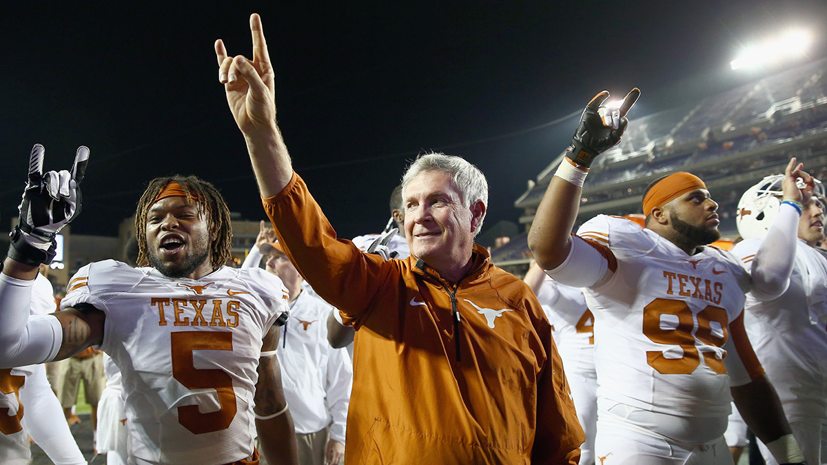 Former Texas coach Mack Brown after a 2013 win over TCU.