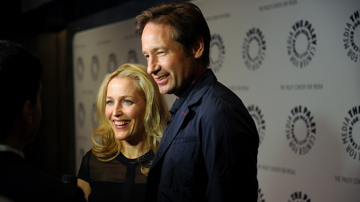 David Duchovny and Gillian Anderson in New York in October 2015.