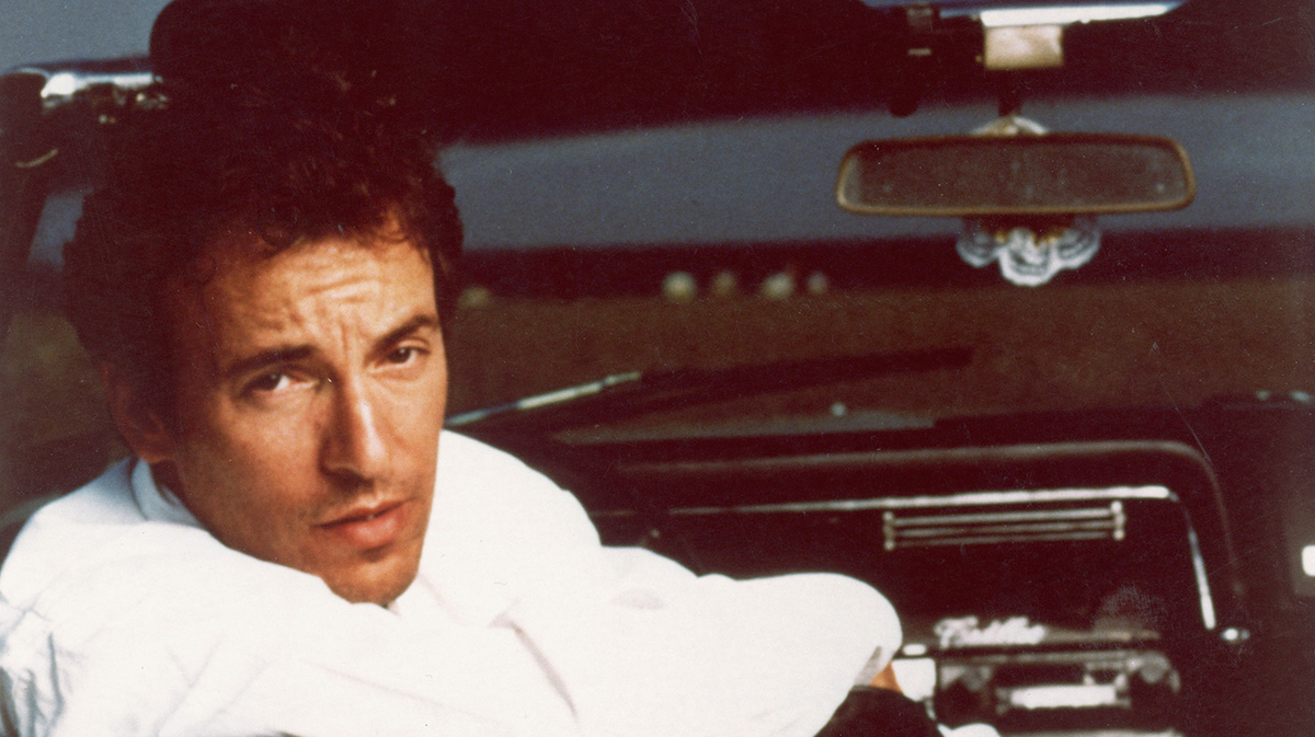 Bruce Springsteen In Convertible
